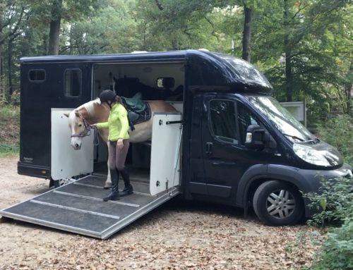 Achteruit (paardenwagen) versus vooruit (paardentrailer) vervoeren van paarden